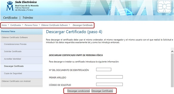 Desaparece el certificado silcon para acceder al sistema for Oficinas certificado digital